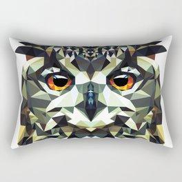 Polygon Owl Rectangular Pillow