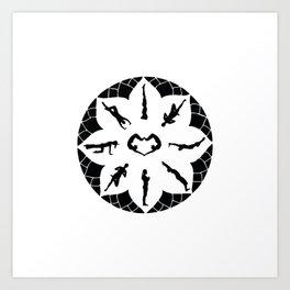 Yoga Circle Art Print