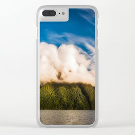 Amazing cloud formation at Lake Manapouri in New Zealand Clear iPhone Case