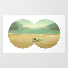 Le temps de l'amour, le temps des copains et de l'aventure. Art Print
