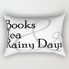 Books & Tea & Rainy Days Rectangular Pillow