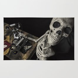 Mr Halloween Skeleton Rug