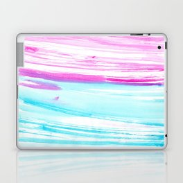 Turquoise  love #2 || watercolor Laptop & iPad Skin