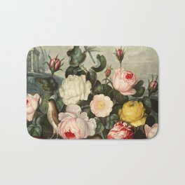 Pink  Red Floral : New Illustration Of The Sexual System Bath Mat