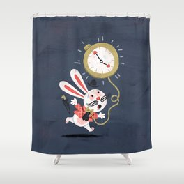 White Rabbit - Alice in Wonderland Shower Curtain