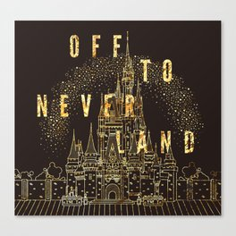 Off to Neverland Canvas Print
