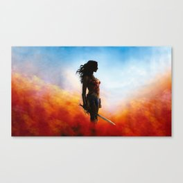 fighter woman Canvas Print