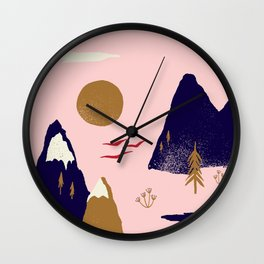 Mountain Scape Wall Clock