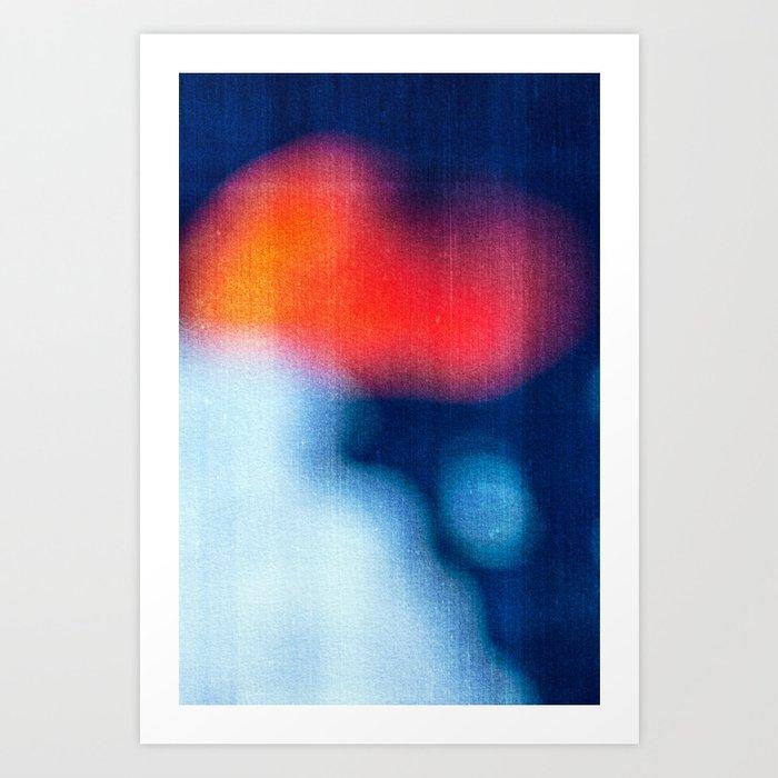 BLUR / burning ice Art Print