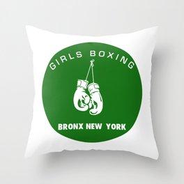GIRLS BOXING Throw Pillow