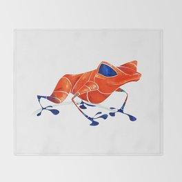 Poison Dart Frog Throw Blanket