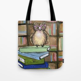 Owl the Librarian Tote Bag