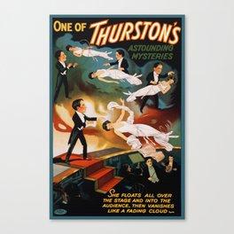 Vintage Magician Thurston Levitation Canvas Print