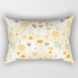 Honey Bees and Buttercups Rectangular Pillow