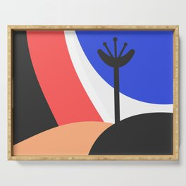 Abstract Landscape Serving Tray