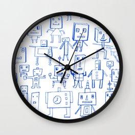 Robot Crowd Wall Clock