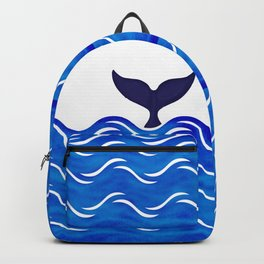Blue Whale Tail Backpack