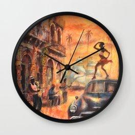 Cuban dance Wall Clock