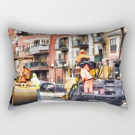 Road roller and asphalt paving machine Rectangular Pillow