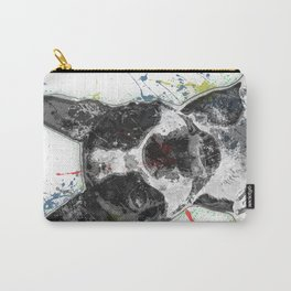 Boston Terrier Paint Splatter Carry-All Pouch
