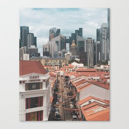 Old and New: Singapore Chinatown Canvas Print