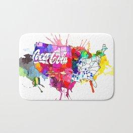 US Coke Map Bath Mat
