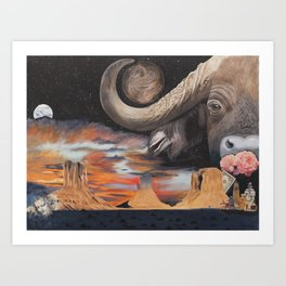 Taurus- The Zodiac Wildlife Series Art Print