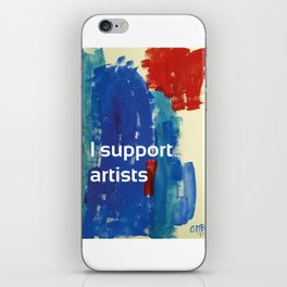 I Support Artists Coaster and Sticker iPhone Skin