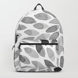 Watercolor brush strokes - black and white Backpack