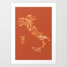 Italy Illustration Art Print