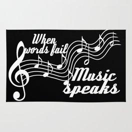 When words fail music speaks Rug