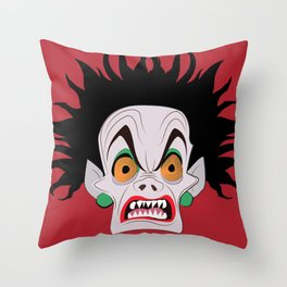 De Vil  Throw Pillow