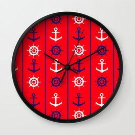 Nautical Pattern Wall Clock