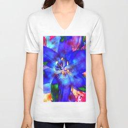 Flashy Flower Unisex V-Neck