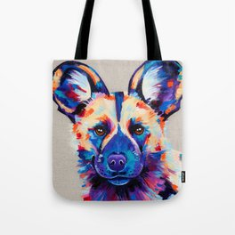 Painted Hunting Dog / African wild dog Tote Bag