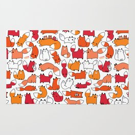 Foxy Foxes Doodle Rug
