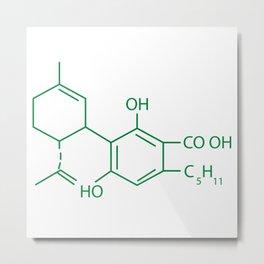 Cannabis Chemistry: CBD Metal Print