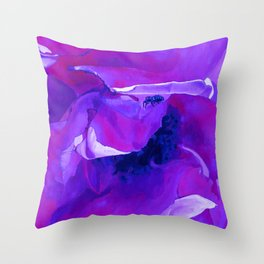 Bug On A Rose - Torrid Violet Throw Pillow