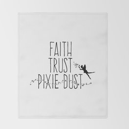 Faith Trust Pixie Dust Fairy Hand Printing Throw Blanket