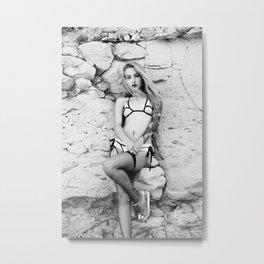 Bikini, Hot Pants and Stockings Metal Print