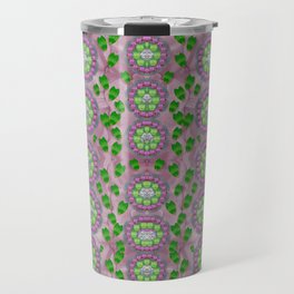 ivy and  holm-oak with fantasy meditative orchid flowers Travel Mug