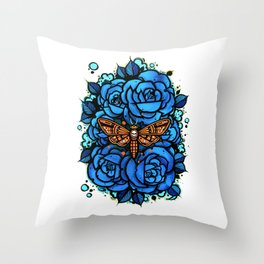Deaths Head Moth pt1 Throw Pillow