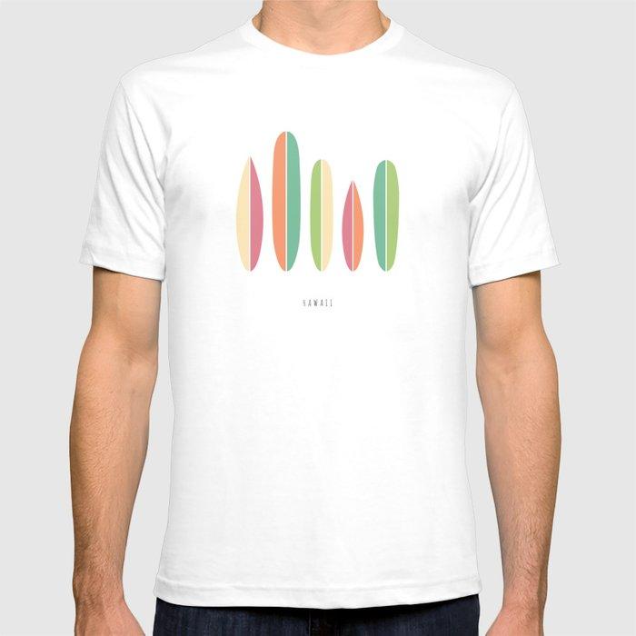 Hawaii Surfboards Minimalist T-shirt