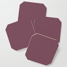 Plain Mulberry to Coordinate with Simply Design Color Palette Coaster