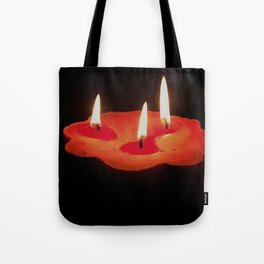 Light a Three Way Candle Tote Bag