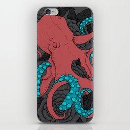Love Octopus print iPhone Skin