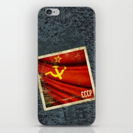 Sticker of Soviet Union (1922-1991) flag iPhone Skin