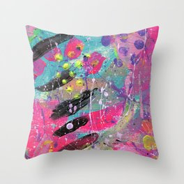 Neon Dream Throw Pillow