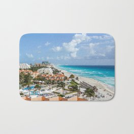 Cancun city on beachside Bath Mat