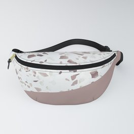 Terrazzo Texture Antique Pink #6 Fanny Pack